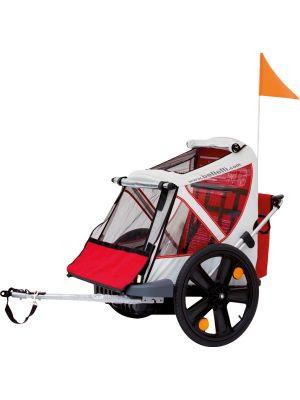 Remorque vélo Bellelli B-Taxi 2 enfants Rouge/Blanc