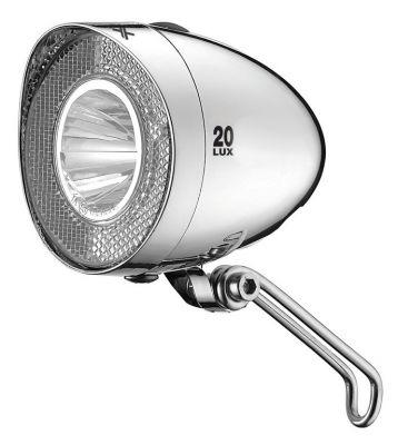Éclairage avant XLC LED Retro 20 LUX CL-F20à piles Chrome