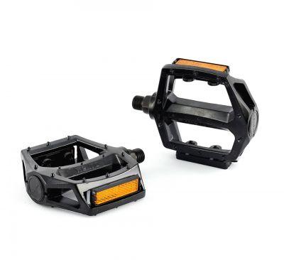Pédales plates type BMX / VTT noire