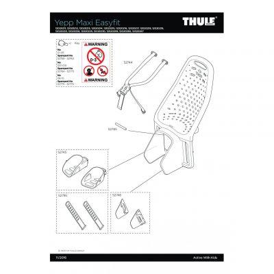 Support en aluminium Thule Yepp Maxi - 52774