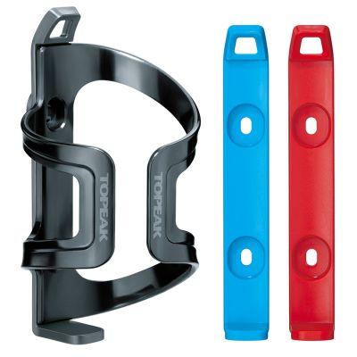 Porte-bidon latéral Topeak DualSide Cage EX Gris/Bleu/Rouge