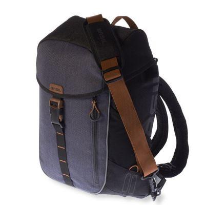 Sacoche BASIL Miles Daypack étanche 17 L Noir/Gris Slate
