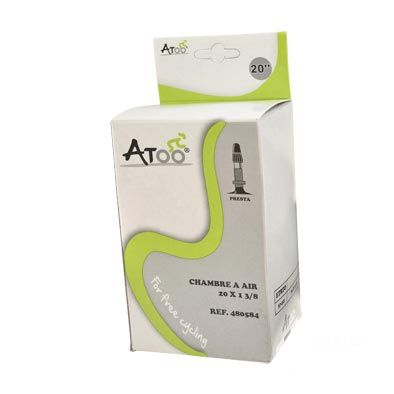 Chambre à air ATOO 20 x 1.3/8 Presta 40 mm