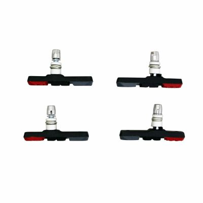 Jeu de 4 porte-patins Newton pour frein VTT type Shimano 72mm Rouge / Gris / Noir