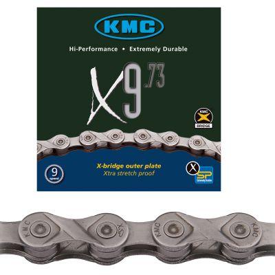 Chaine vélo KMC 9 vitesses X9.73 argent 114 maillons