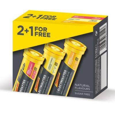 Electrolytes Powerbar Pack trois saveurs Mangue/Framboise/Citron