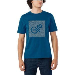 Tee-shirt Giro Transfer Bleu/Argent