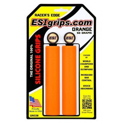 Poignées ESI Grips Racer's Edge silicone 30 mm Orange