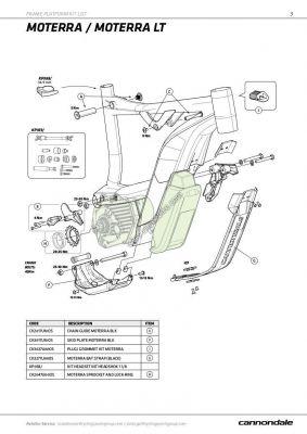 Sabot Cannondale Moterra Skid Plate CK3017U10OS Noir