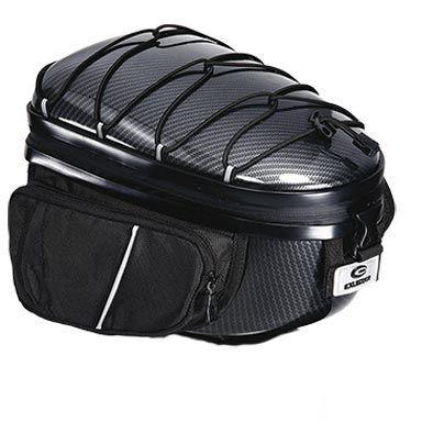 Sacoche arrière top case Exustar BBR27 coque rigide Noir Carbone