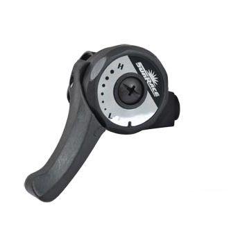 Manette SunRace SLM2T 3V Friction Avec collier Gauche Noir