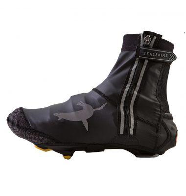 Sur-chaussures imperméable SealSkinz Lightweight Halo avec feu LED Noir