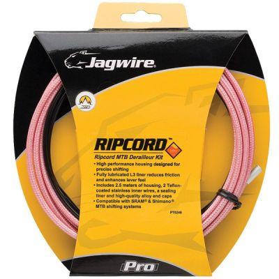 Kit complet câbles et gaines dérailleur Jagwire Mountain Pro - Rose Thorn