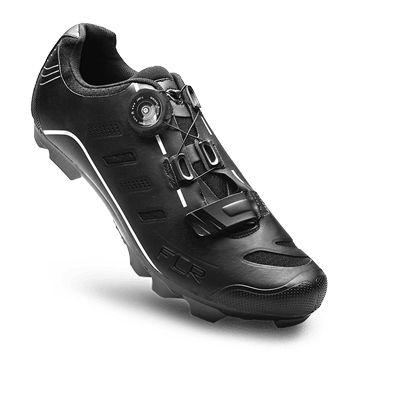 Chaussures VTT FLR Elite F-75 Serrage molette + Bande auto agrippante Noir
