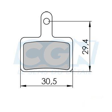 Plaquettes de frein 34 Clarks comp. Shimano / TEKTRO / TRP Semi métallique