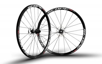 Roues Scope R3D 30 mm disque CL Campagnolo 11V 12 mm Blanc (Paire)