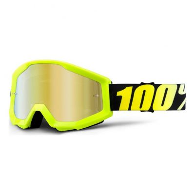 Masque 100% Strata Neon Yellow/Gold