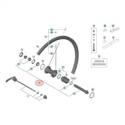 Axe De Moyeu Shimano WH-RS700 WH-RS700-C30-TL-R
