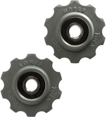 Galets de dérailleur Tacx 10 dents Roulements inox RVS SRAM/Shimano/Campagnolo Noir
