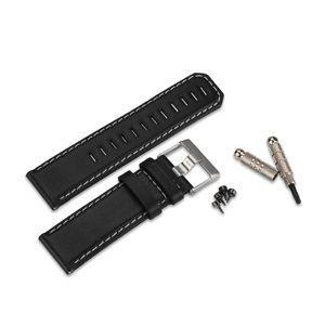 Bracelet en cuir Garmin Fenix, Fenix2, tactix Noir