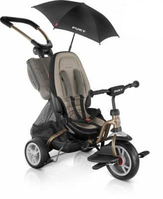 Tricycle 2x1 PUKY CAT S6 Ceety + Parasol 1 an 1/2 Bronze