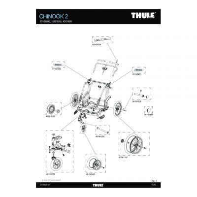 Axe de roue avant Thule Chinook - 40191295