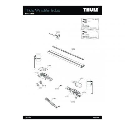 Lot de 4 straps Thule - 52976