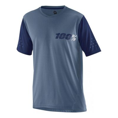 Maillot 100% Jersey Ridecamp Bleu Manches courtes
