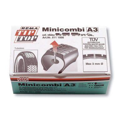 Kit réparation pneu tubeless TIP-TOP A 3 mm (25 pièces)