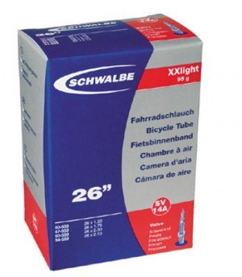 Chambre à air Schwalbe 26 x 1.50/2.10 XX light AV14A Schrader 40 mm