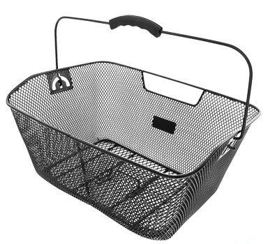 Panier AR Acier maille Fix. sur porte-bagages Noir