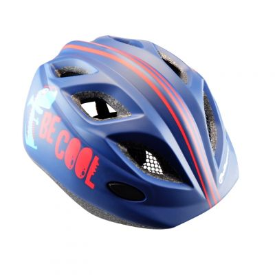Casque Enfant Polisport Be Cool In Mold + Bidon Bleu Mat