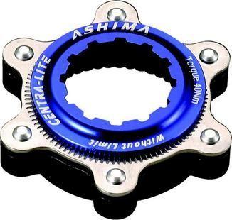 Adaptateur Ashima Center Lock / 6T alu Bleu