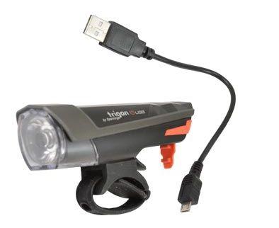 Éclairage AV Spanninga Trigon 15 Lux LED USB Noir
