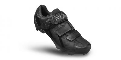 Chaussures VTT FLR Elite F-65 Clic + 2 Bandes auto agrippantes Noir