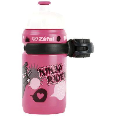 Bidon enfant Zéfal Little Z 350 ml + Clip Ninja Rose
