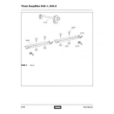 Rail Thule 948-1,948-2 - 50666