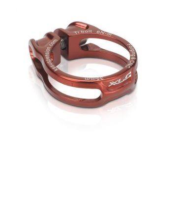 Collier de tige de selle XLC PC-B06 Alu 31,6 mm Rouge