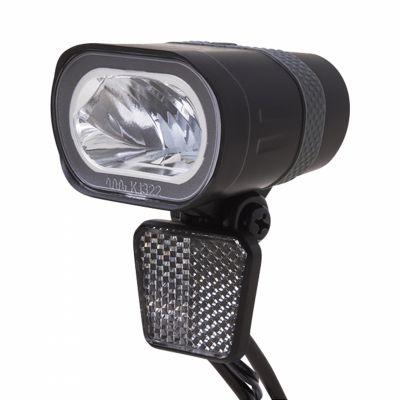 Éclairage AV Spanninga Axendo Xe 40 LUX Sur fourche Sur VAE 6-36V Noir