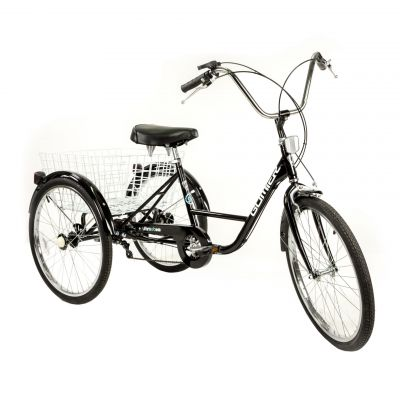 Tricycle adulte Gomier TR-2403 24 pouces 5 vitesses Noir
