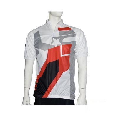 Maillot manches courtes No Contest Top Cool Blanc/Rouge/Gris