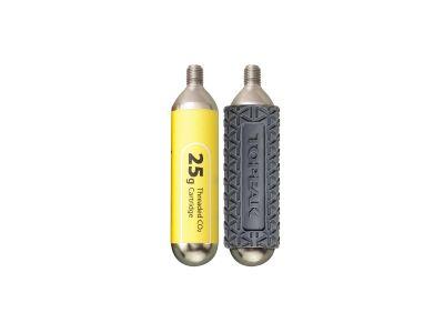 Cartouche CO2 filetée Topeak 25 g (2 pièces + 1 protection)