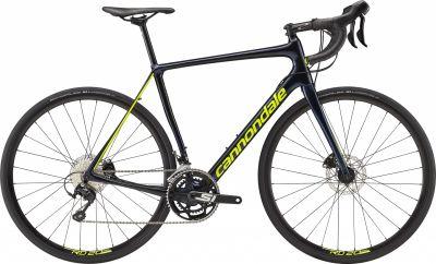 Vélo route Cannondale Synapse Carbon Disc 105 Bleu Midnight/Jaune Volt