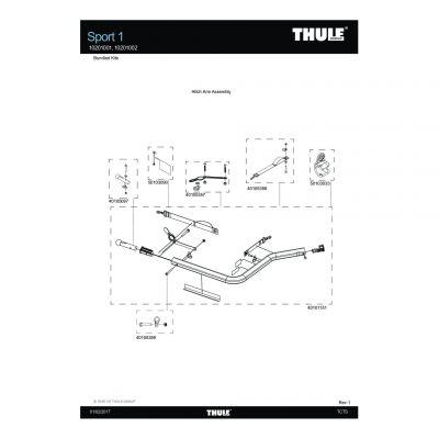 Kit de goupille pour bras de remorquage Thule Sport - 40105097