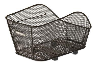 Panier AR Acier Nid d'abeille BASIL Icon Medium Fixation système WSL Porte-bagages Noir