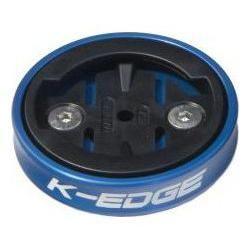 Support GPS k-edge gravity de capot de potence pour garmin bleu