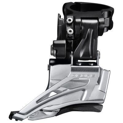 Dérailleur avant Shimano Deore M6025 2x10 Collier Haut 34.9-31.8-28.6 mm Tirage Haut-Bas