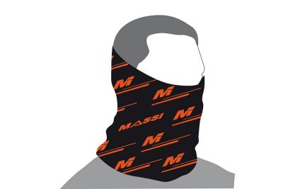 Tour de cou Massi Wind Adur Noir/Orange fluo
