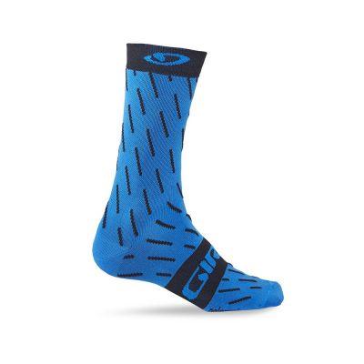 Chaussettes Giro Comp Racer High-Rise Bleu Jewel Echelon