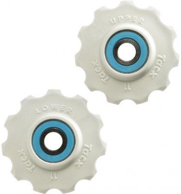 Galets de dérailleur Tacx 11 dents Roulements céramique Shimano/Campagnolo Blanc